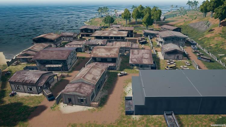 《绝地求生》4x4小地图资源分布图 海岛地图资源点